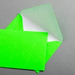 Ultra Neon Couverts DIN C6 - Neon Grün