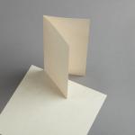Pergament Karten DIN lang hochdoppelt
