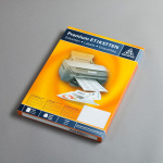 Etiketten Transparent - 25 Blatt
