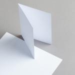 Karten Weiss A6 hochdoppelt