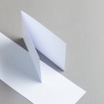 Karten Weiss A6 querdoppelt