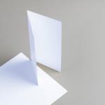 Karten Weiss DIN Lang hochdoppelt
