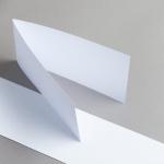 Karten Weiss DIN Lang querdoppelt