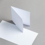 Karten Weiss 115 x 115 mm