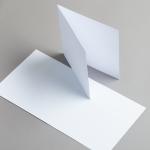 Karten Weiss 155 x 155 mm