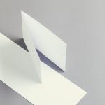 Karten Elfenbein A6 querdoppelt