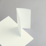 Karten Elfenbein DIN Lang Wickelfalz/2xgerillt