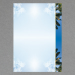 Himmel mit Palmen A4