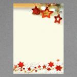 Sternenkette elfenbein A4