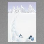 Spuren im Schnee A4