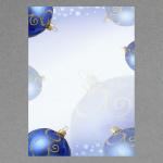 Blaue Weihnachtskugeln A4
