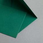 Farbige Couverts DIN B6 Moosgrün
