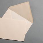 Farbige Couverts DIN B6 Vanilla