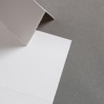 Farbige Büttenkarten hochdoppelt Chantilly 115 x 170 mm