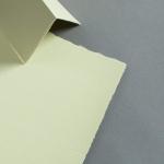 Farbige Büttenkarten hochdoppelt Green Tea 115 x 170 mm