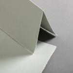 Büttenkarten hochdoppelt Sage Green 113 x 175 mm