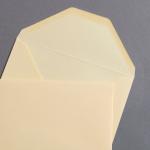 Farbige Büttencouverts Butter Cream 120 x 180 mm
