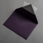 Colorplan Couverts DIN B6 spitze Klappe Aubergine