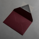 Colorplan Couverts DIN B6 spitze Klappe Weinrot