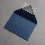 Colorplan Couverts DIN B6 spitze Klappe Kobaltblau