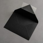 Colorplan Couverts DIN B6 Schwarz