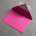 Colorplan Couverts DIN B6 spitze Klappe Pink