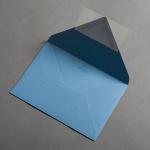Colorplan Couverts DIN B6 spitze Klappe Stahlblau