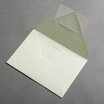 Colorplan Couverts DIN B6 spitze Klappe Pistaziengrün