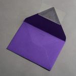 Colorplan Couverts DIN B6 spitze Klappe Violett