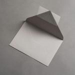 Colorplan Couverts DIN B6 spitze Klappe Grau