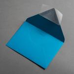 Colorplan Couverts DIN B6 spitze Klappe Dunkeltürkis