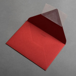 Colorplan Couverts DIN B6 Rot