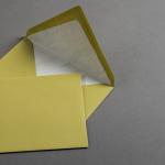 Couverts gerippt pistaziengrün DIN B6