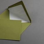 Couverts gerippt olivgrün DIN B6