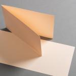 Farbige Karten 120 x 169 mm querdoppelt Vanilla