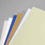 Metallics gebürstet Karten DIN Lang hochdoppelt