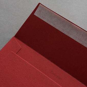 Colorplan Couverts DIN C5 Rot