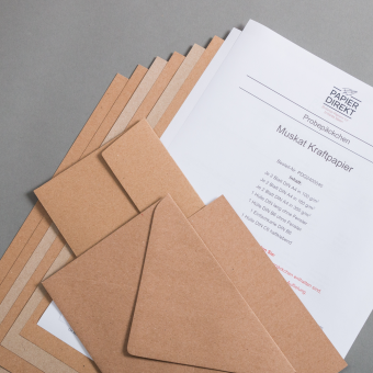 Muskat Kraftpapier Probepäckchen