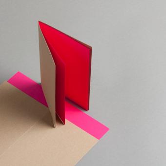Muskat Kraft Karten hochdoppelt 120 x 171 mm