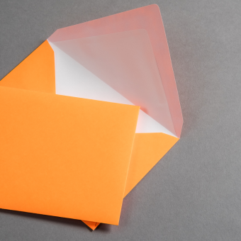 Ultra Neon Couverts DIN C6 - Neon Orange