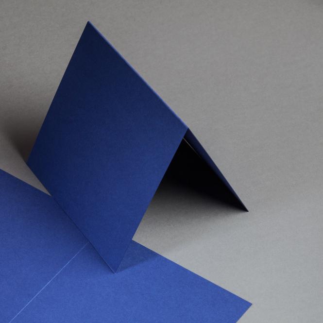 Metallics gebürstet Karten 150 x 150 mm hochdoppelt Blueprint