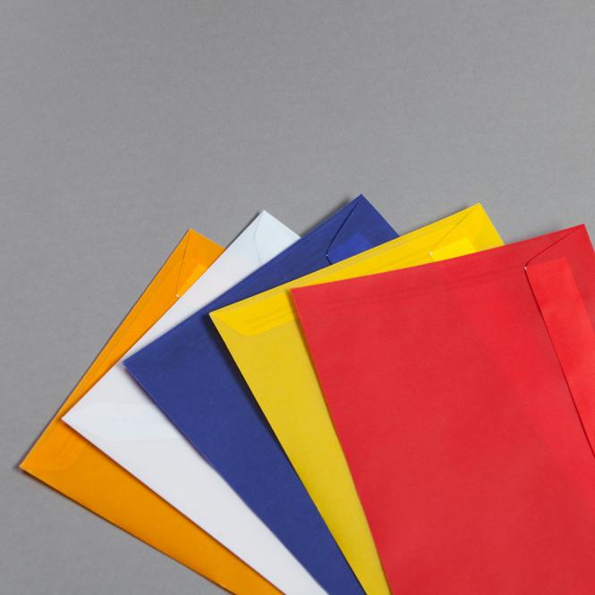 Transparent Farbig Couverts DIN C5