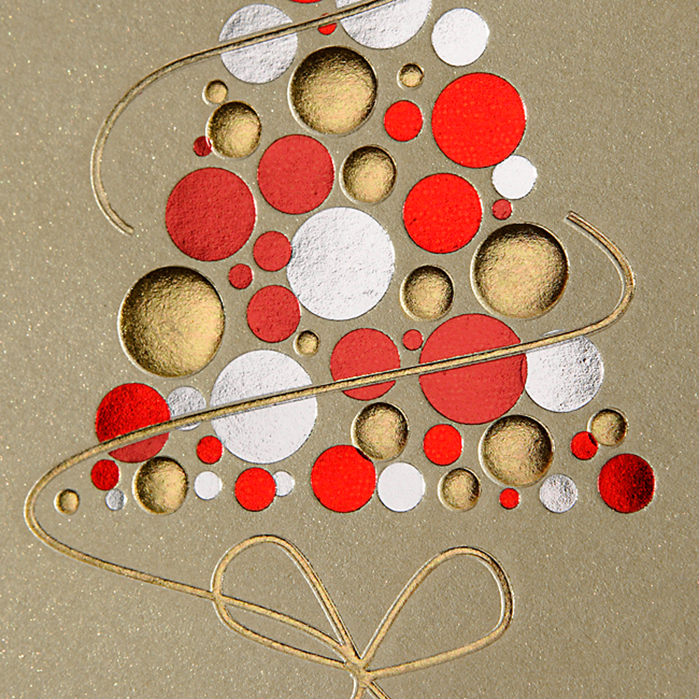 rot gold silberner weihnachtsbaum papier direkt. Black Bedroom Furniture Sets. Home Design Ideas