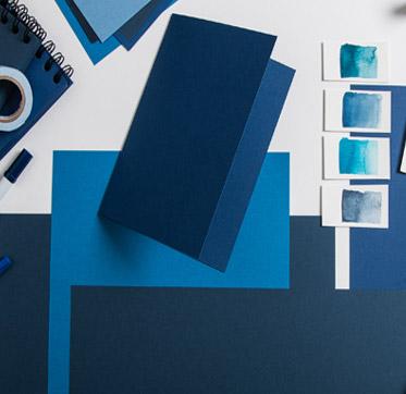 papiere-in-der-farbe-blau